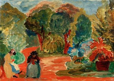 Two women in the park - Marianne von Werefkin