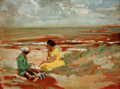 Two women on the beach - Julie Wolfthorn