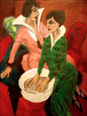 Two women with wash basin_ The sisters - Ernst Ludwig Kirchner