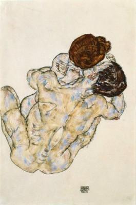 Umarmung (2) - Egon Schiele