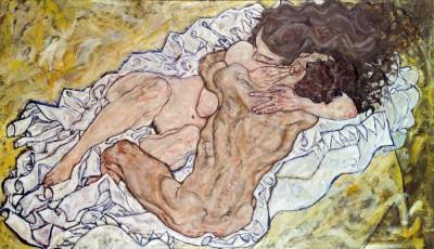 Umarmung (3) - Egon Schiele