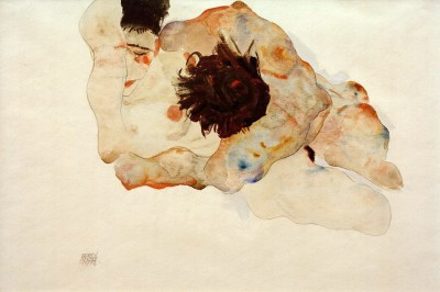 Umarmung (4) - Egon Schiele