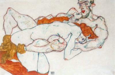 Umarmung - Egon Schiele