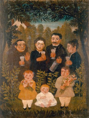 United Family - Henri Rousseau