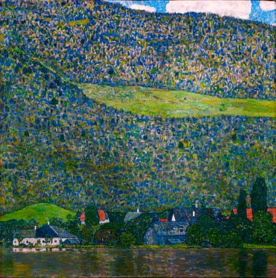 UNTERACH ON LAKE ATTER. - Gustav Klimt