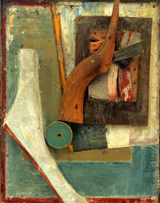 Untitled Blue Paragraph - Kurt Schwitters