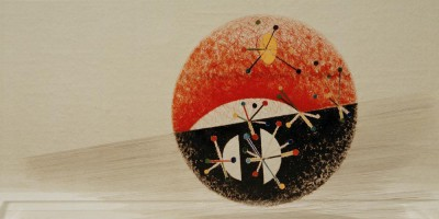 Untitled - Oil on Plexiglas - László Moholy-Nagy