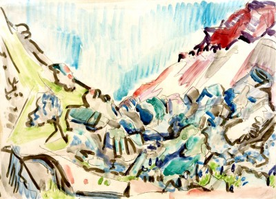 Valley cutting at Davos - Ernst Ludwig Kirchner