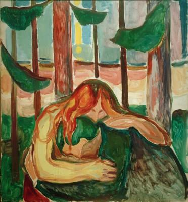Vampire in the forest - Edvard Munch