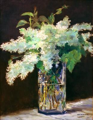 Vase de fleurs, lilas blancs - Édouard Manet