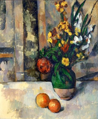 Vase with Apples - Paul Cézanne