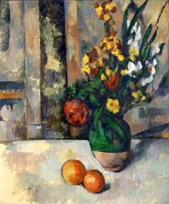 Vase with Apples - Paul Cézanne