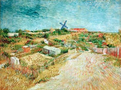 Vegetable Gardens at La Butte Montmarte - Vincent van Gogh