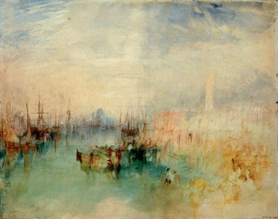 Venice - Shipping off the Riva degli Schiavoni from near the Ponte dell'Arsenale - William Turner