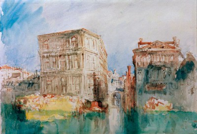Venice -The Casa Grimani and Rio San Luca on the Grand canal - William Turner