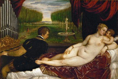 Venus with organ player - Tycjan