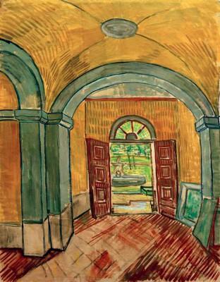 Vestibule of the Asylum - Vincent van Gogh