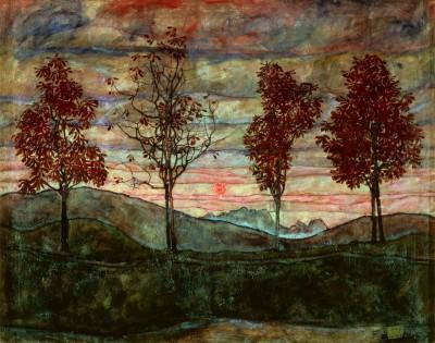 Vier Bäume - Egon Schiele