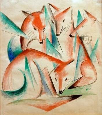 Vier Füchse - Franz Marc