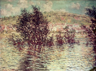 View from Lavacourt of Vétheuil - Claude Monet