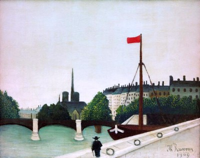 View from quay Henri IV to the Ile Saint-Louis - Henri Rousseau