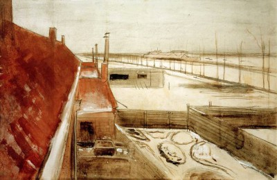 View from the Artist's Studio in The Hague - Vincent van Gogh
