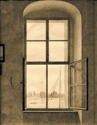 View from the studio of the artist - Caspar David Friedrich