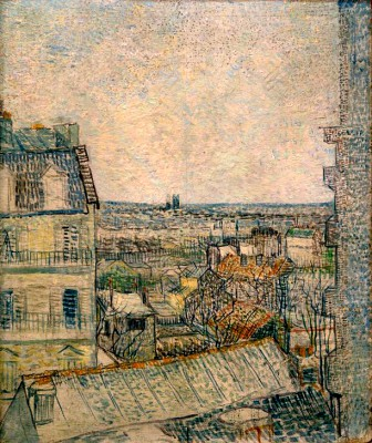 View from the window of the apartment in Rue Lepic - Vincent van Gogh