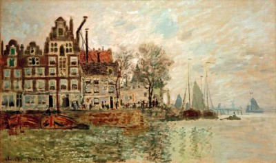View of Amsterdam - Claude Monet