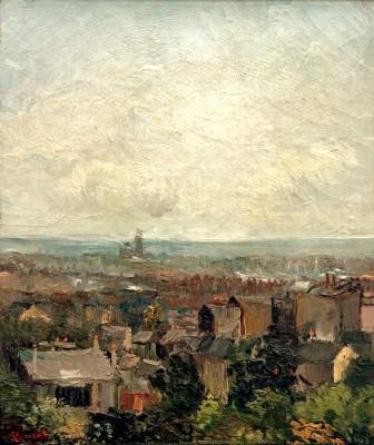 View of Paris rooftops - Vincent van Gogh