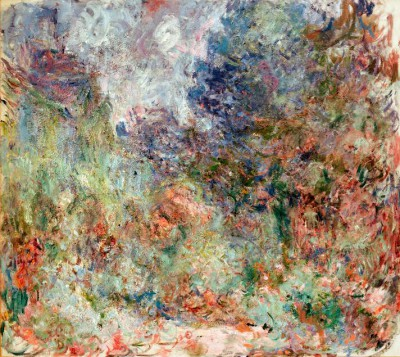 View of the artist's house from the rose garden - Claude Monet