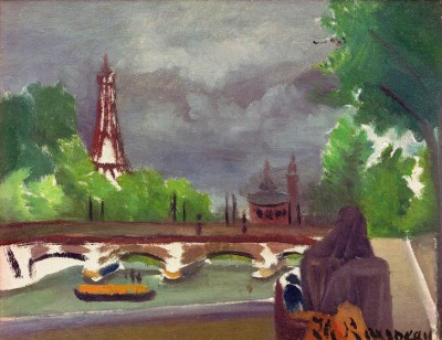 View of the Eiffel Tower and the Trocadéro - Henri Rousseau
