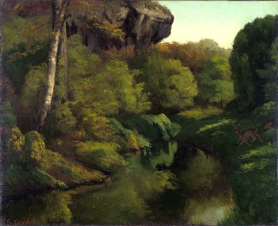 View of the Forest of Fontainebleau France - Gustave Courbet