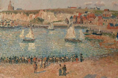 View of the outer harbour of Dieppe - Camille Pissarro