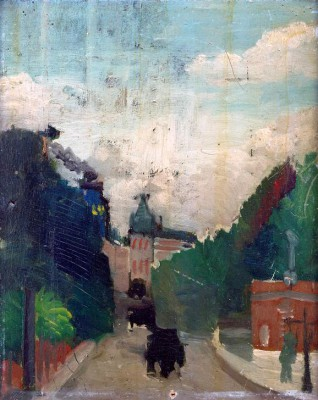 View of the Palais du Métropolitain - Henri Rousseau