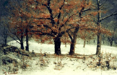 View of the park of Crêtes - Gustave Courbet