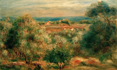 View of the sea from Haut-Cagnes - Pierre Renoir