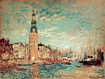 View of Tour Montalban in Amsterdam - Claude Monet
