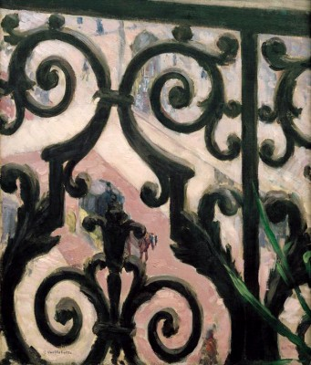 View Through Balcony Grating - Gustave Caillebotte