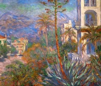 Village avec montagne et Agave - Claude Monet