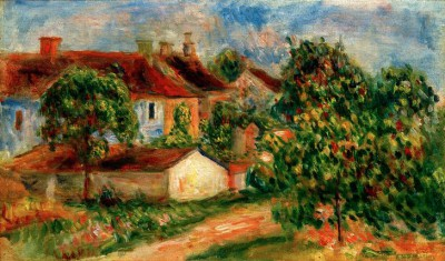 Village houses wiht red rooves - Pierre Renoir