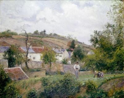 Village near Pontoise - Camille Pissarro