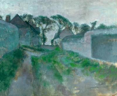 Village street, Saint Valery-sur-Somme - Edgar Degas