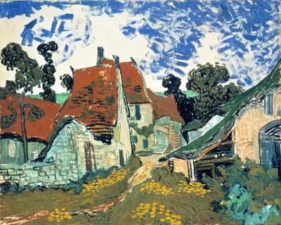 Village street in Auvers - Vincent van Gogh