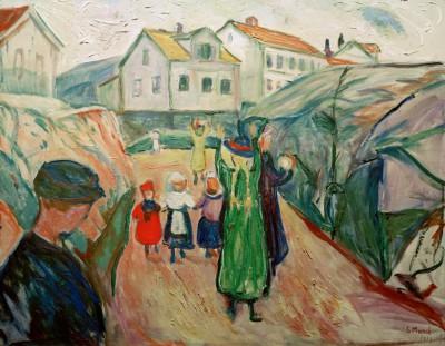 Village street Kragerö - Edvard Munch