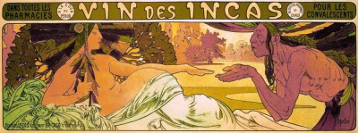 Vin des Incas - pour les convalescents - Alfons Mucha