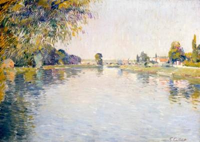 Vue de la Seine et de la Rive d'Argenteuil - Gustave Caillebotte