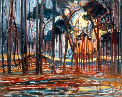 Wald bei Oele - Piet Mondrian