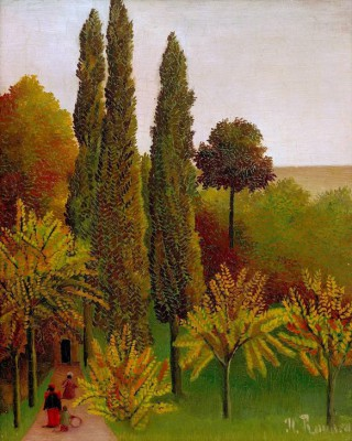 Walking in the Parc de Buttes-Chaumont - Henri Rousseau