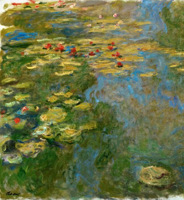 Water Lilies Pond, left side - Claude Monet